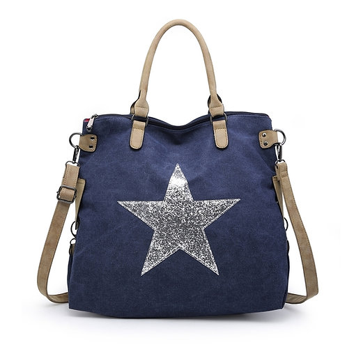 Large Star Bag - Navy