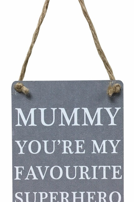 Mini Metal Sign - Mummy Superhero