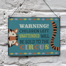 Metal Sign - Children Sold to Circus