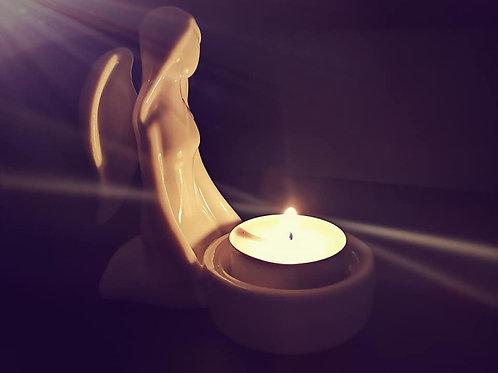 Ceramic Angel T-Light Holder