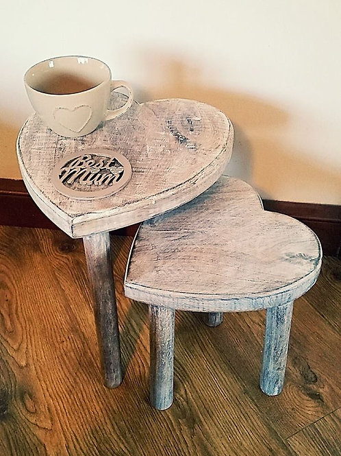 Heart Shaped Stools (Set Of Two)