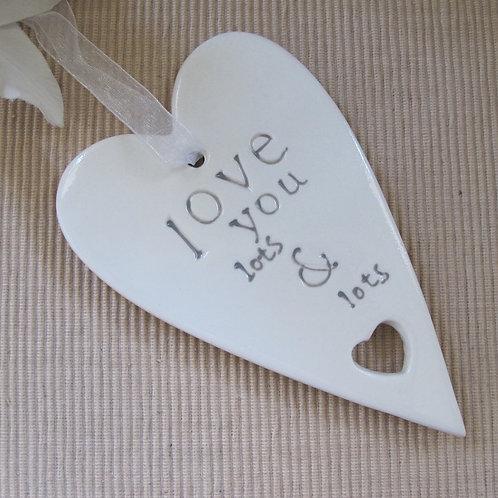 Ceramic Hanging Love Heart