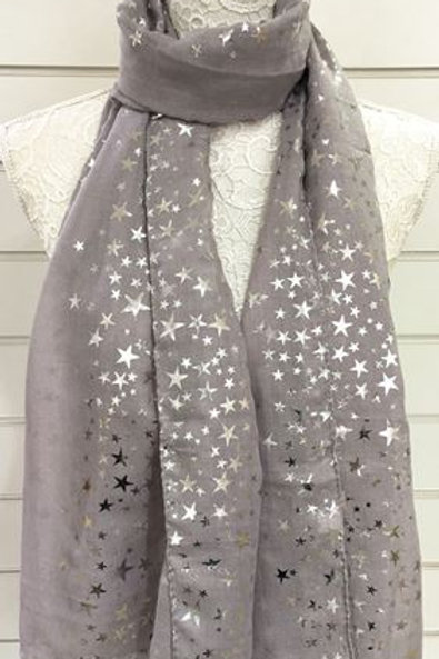 Silver Foil Scarf - Various Colours