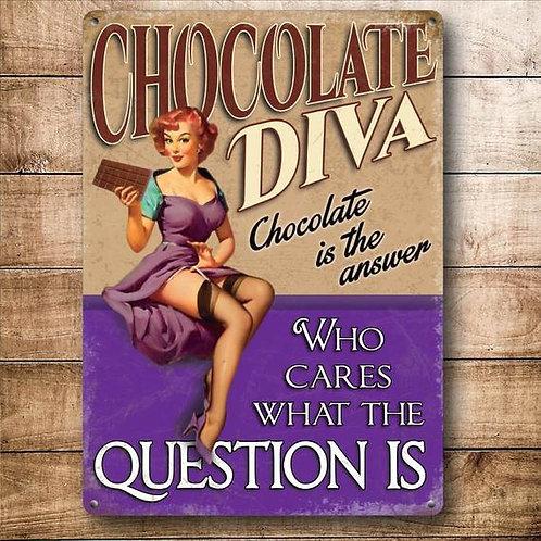 Metal Sign - Chocolate Diva
