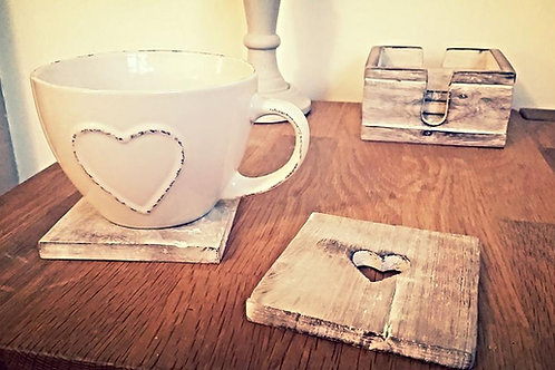 Heart Cut Out Coasters