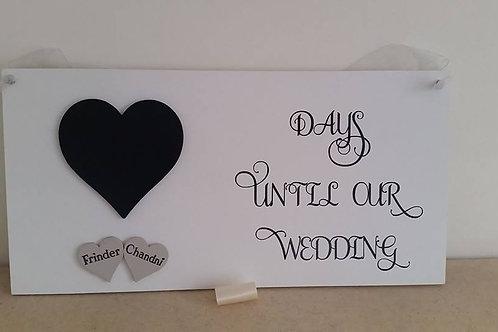 Wedding Countdown Plaque