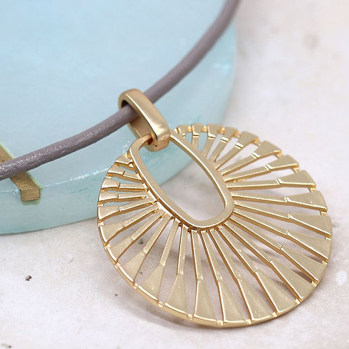 Golden sun ray necklace