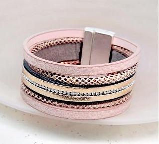 Pink snakeskin wrap jewellery