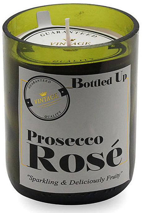 Bottle Candle - Prosecco Rose