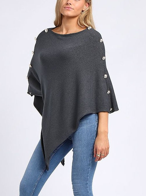 Ashley Poncho - Charcoal