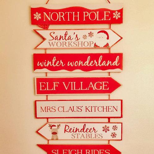 Christmas Hanging Signposts
