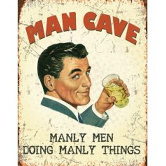 Mini Metal Sign - Man Cave