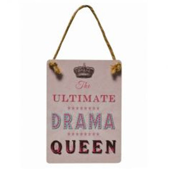 Mini Metal Sign - Drama Queen