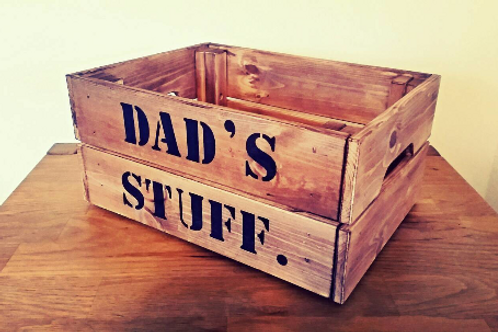 Dad's Stuff Rustic Crate