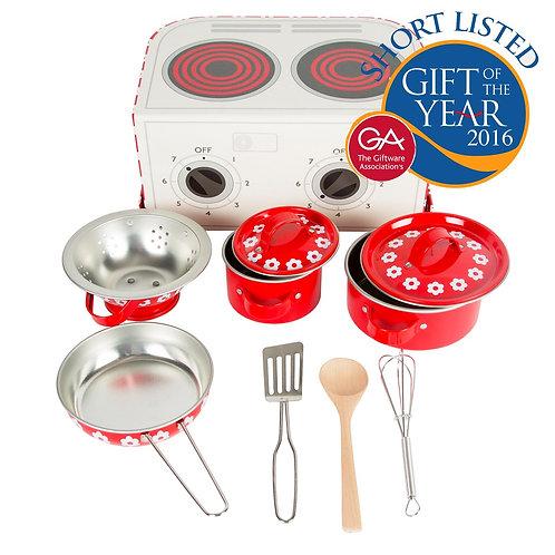 Kid's Kitchen Cooking Box - Red