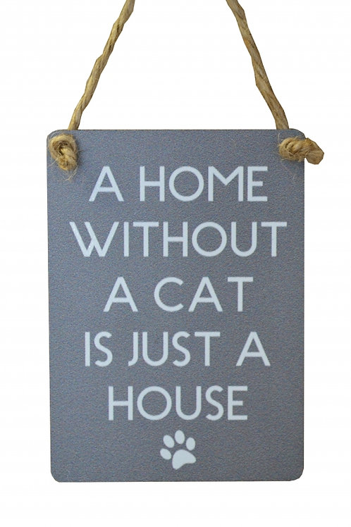 Mini Metal Sign - Cat