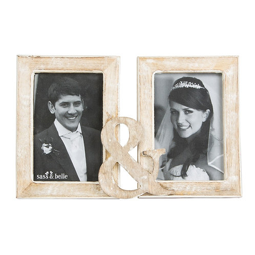 Double Rustic Wood Frame