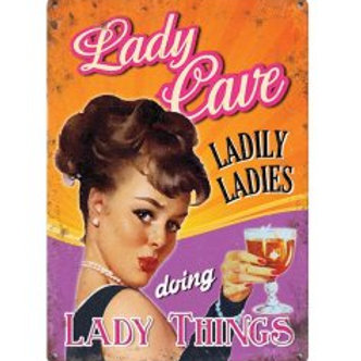 Mini Metal Sign - Lady Cave