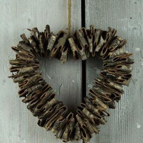 Birch Bark Heart