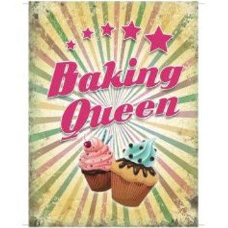 Mini Metal Sign - Baking Queen