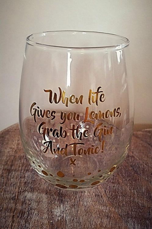 Stemless Gin Glasses