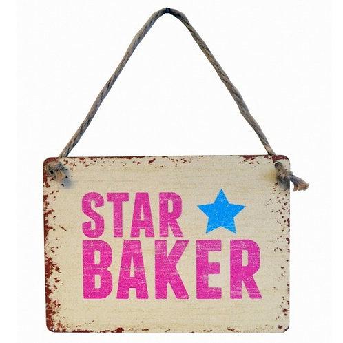 Mini Metal Sign - Star Baker