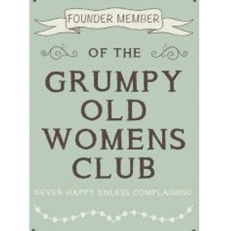 Mini Metal Sign - Grumpy Old Women