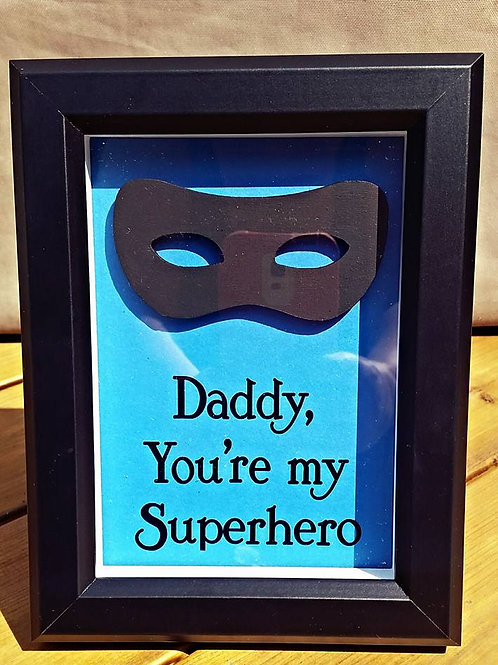 Superhero Daddy Frame