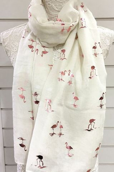 Rose Gold Flamingo Scarf - Various Colours