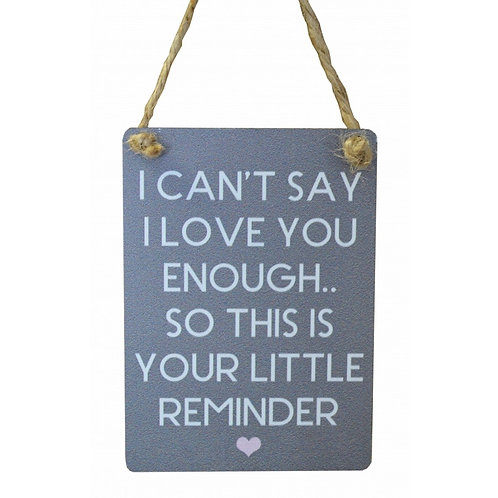 Mini Metal Sign - Love Reminder