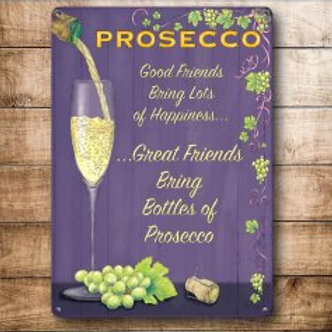 Mini Metal Sign - Prosecco
