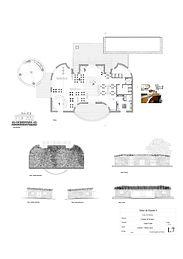 Planos de Paisajismo, planta y corte restaurant