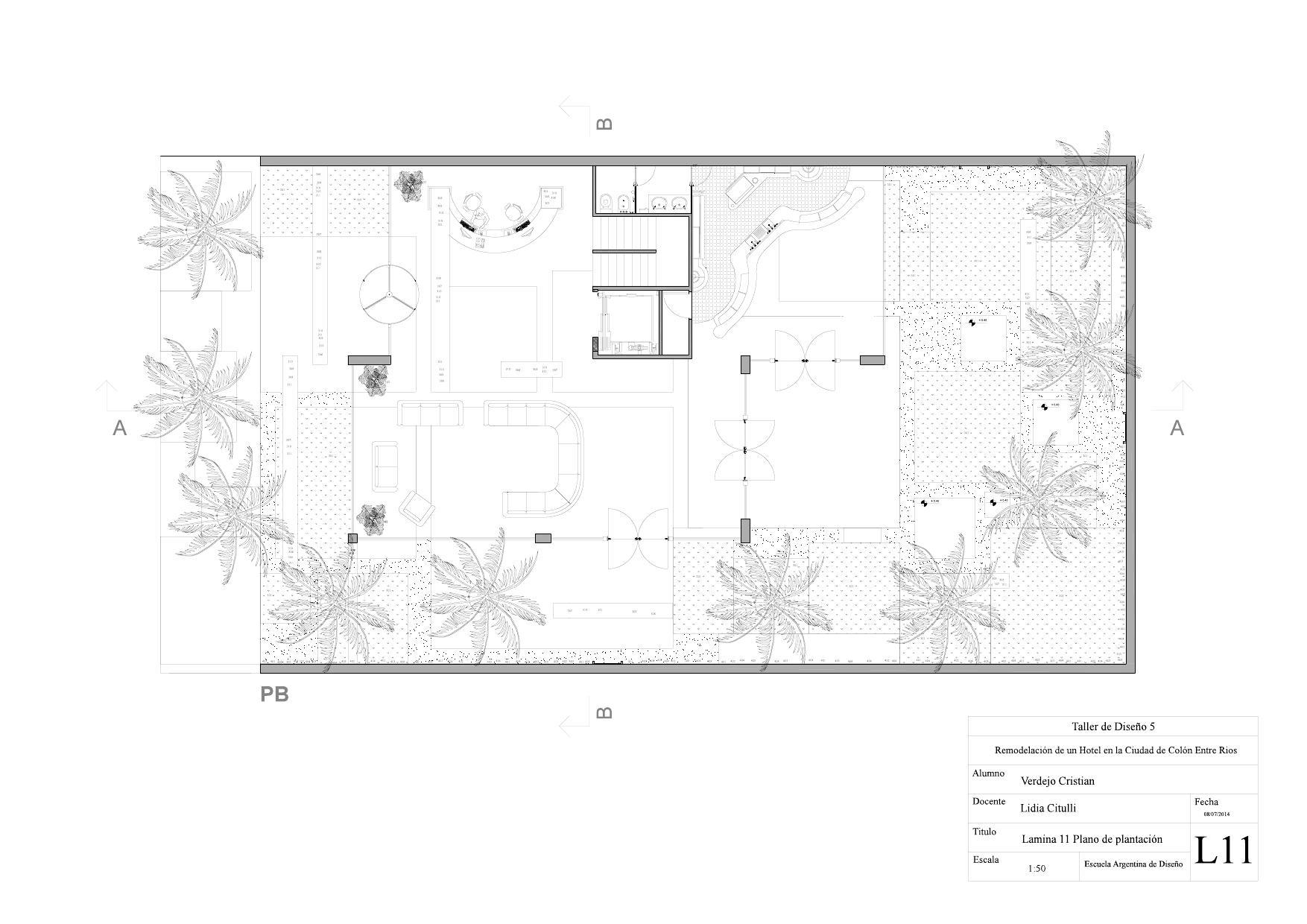 Plano de Plantacion