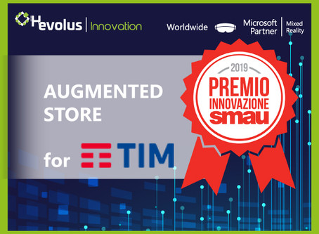 """TIM and Hevolus Innovation won the SMAU2019 Innovation Award with the """"TIM Augmented Store"""" project"""
