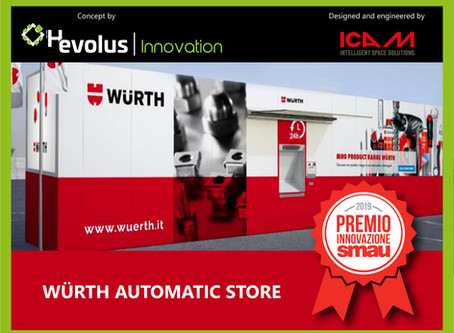The project Würth Automatic Store won the Innovation Award at SMAU Naples 2019
