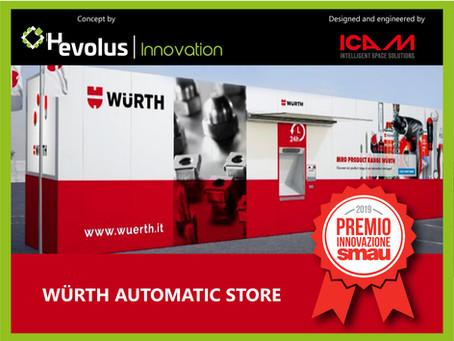 Il progetto Würth Automatic Store vince il Premio Innovazione a SMAU Napoli 2019