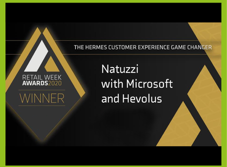 The Natuzzi Augmented Store wins the Retail Week Award, category Hermes CX-GAME CHANGER