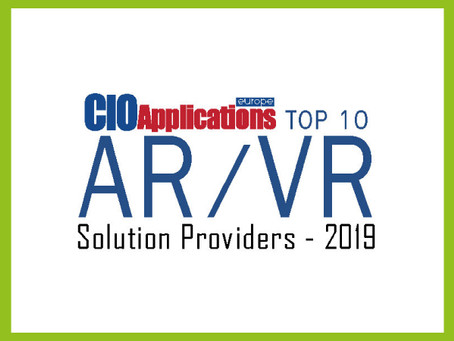 Hevolus Innovation has been ranked in the european Top10 AR/VR Solutions Provider-2019