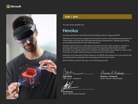 Hevolus diventa Gold Partner di Microsoft per la Mixed Reality