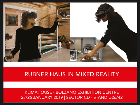 "THE ""RUBNER HAUS IN MIXED REALITY"" SOLUTION PRESENTED AT KLIMAHOUSE"