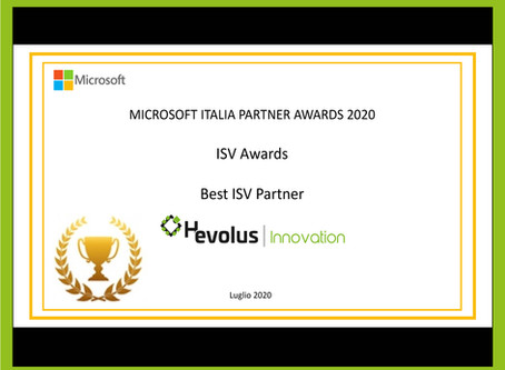 Hevolus wins Microsoft Italy Awards 2020 and stands out as Best ISV Partner 2020.