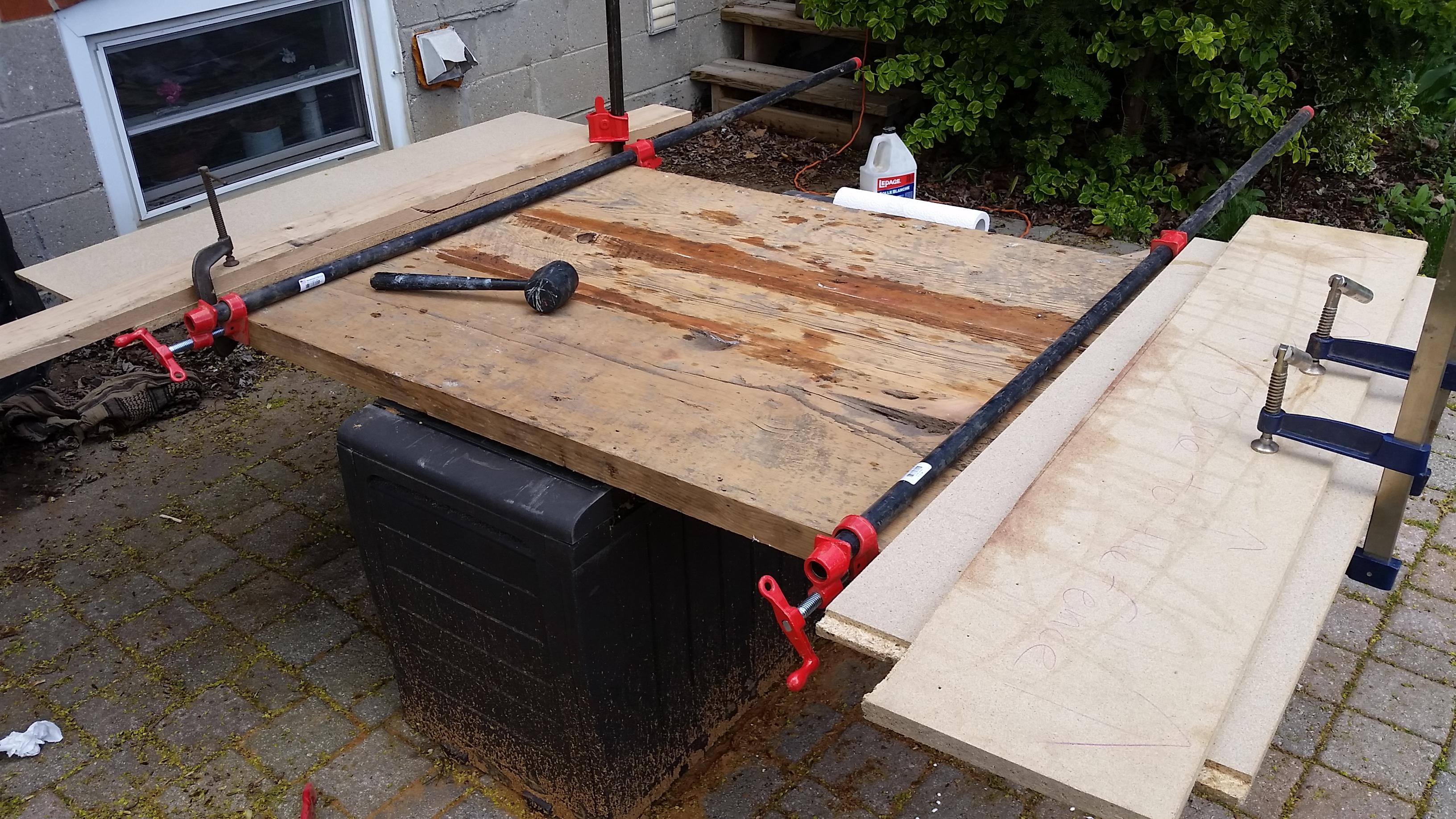 WIP barnboard tabletop toronto