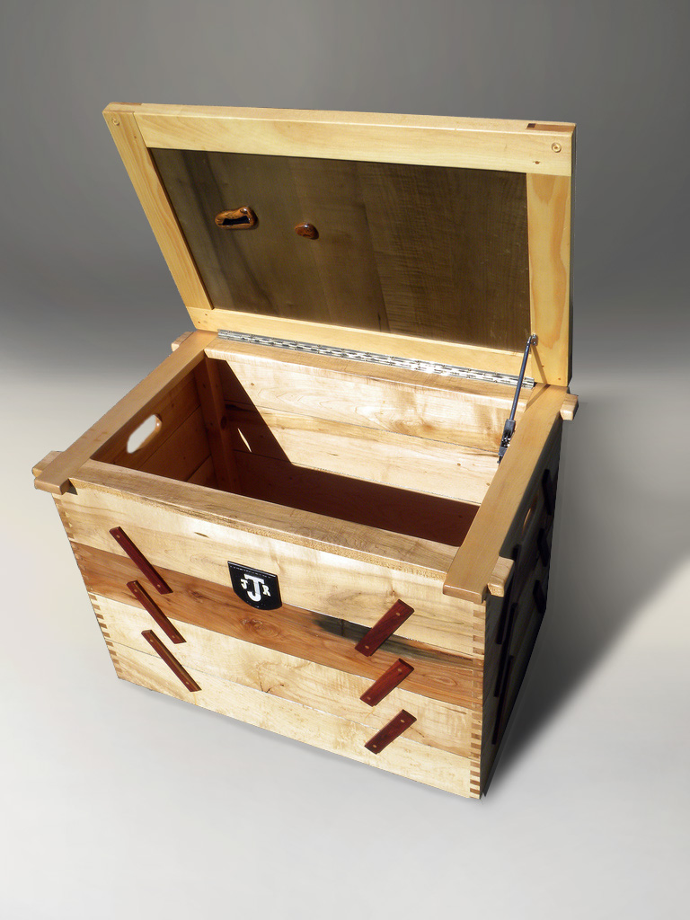 hand made wooden blanket box