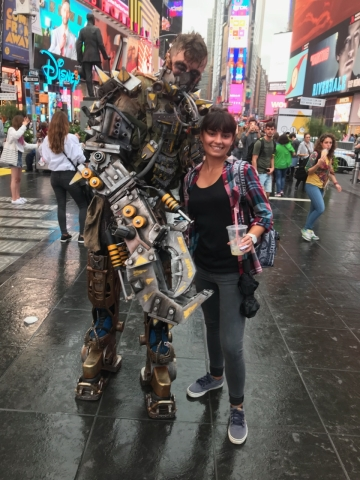 cute girl in times square cosplay