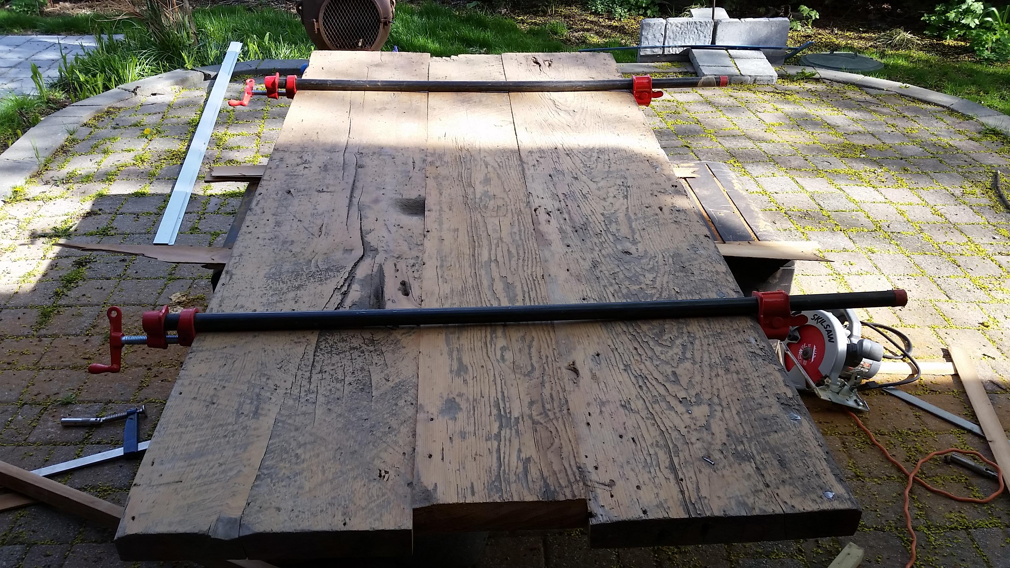 WIP modern barnboard table