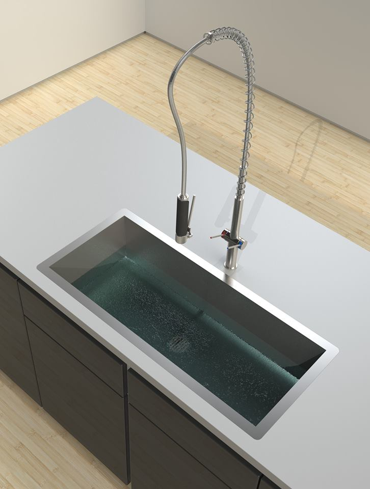 architectural render designer sink