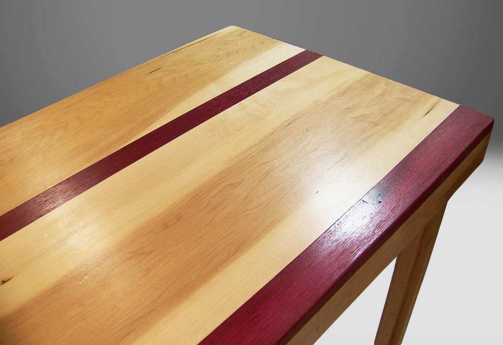 exotic wood inlay table