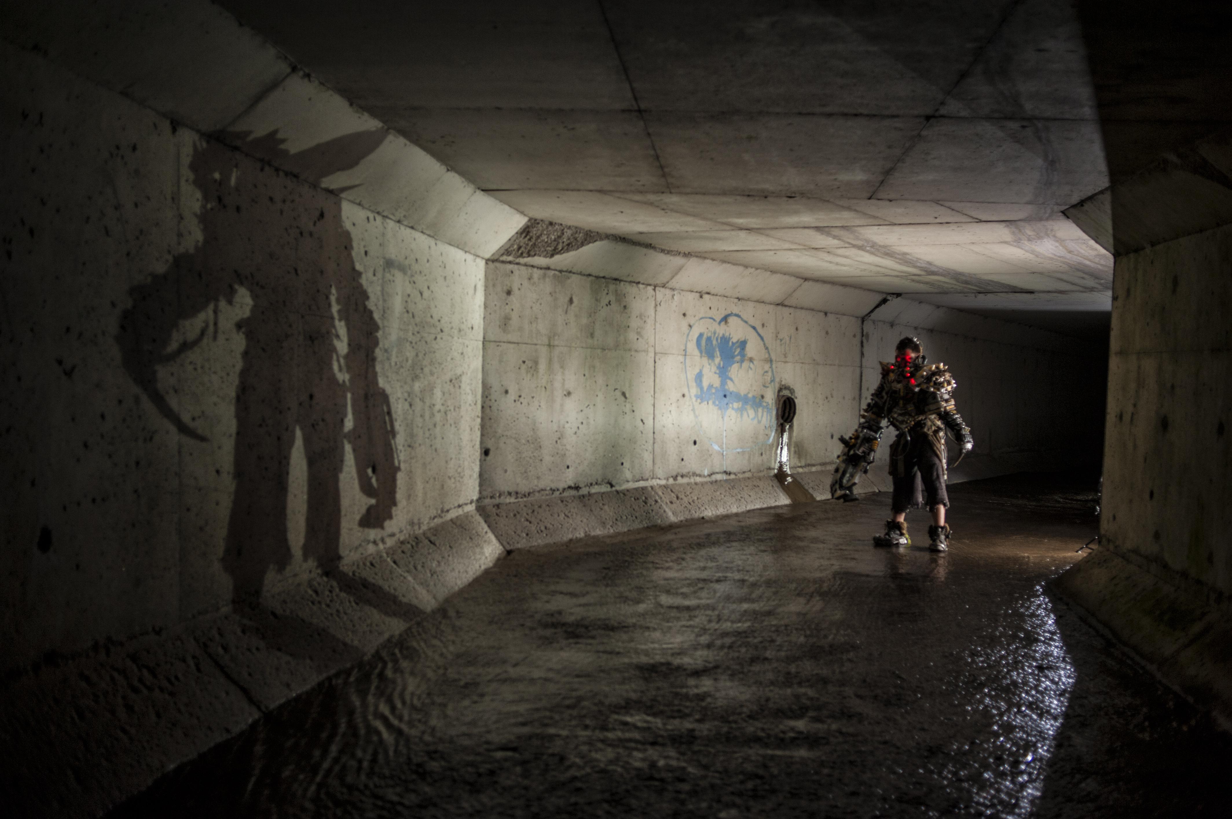 Long exposure shadow drain fallout