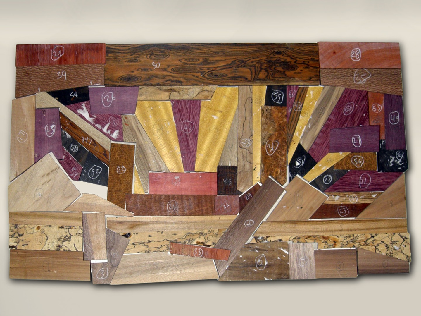 exotic wood complex inlay