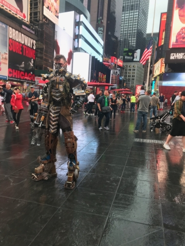Times Square fallout raider cosplay